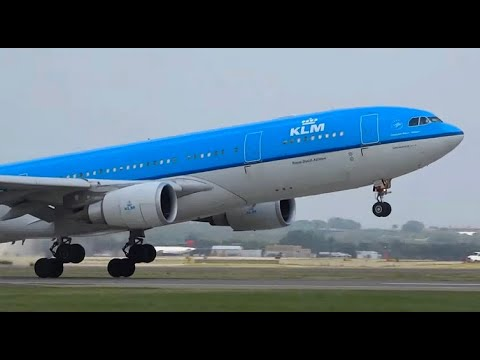 (HD) Rare!  - Runway 22 Plane Spotting at Minneapolis St. Paul Int'l Airport KMSP/MSP