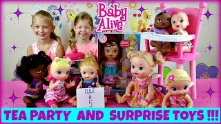 BABY ALIVE Teacup Surprise Baby Doll Fun Tea Party and Surprise Toys