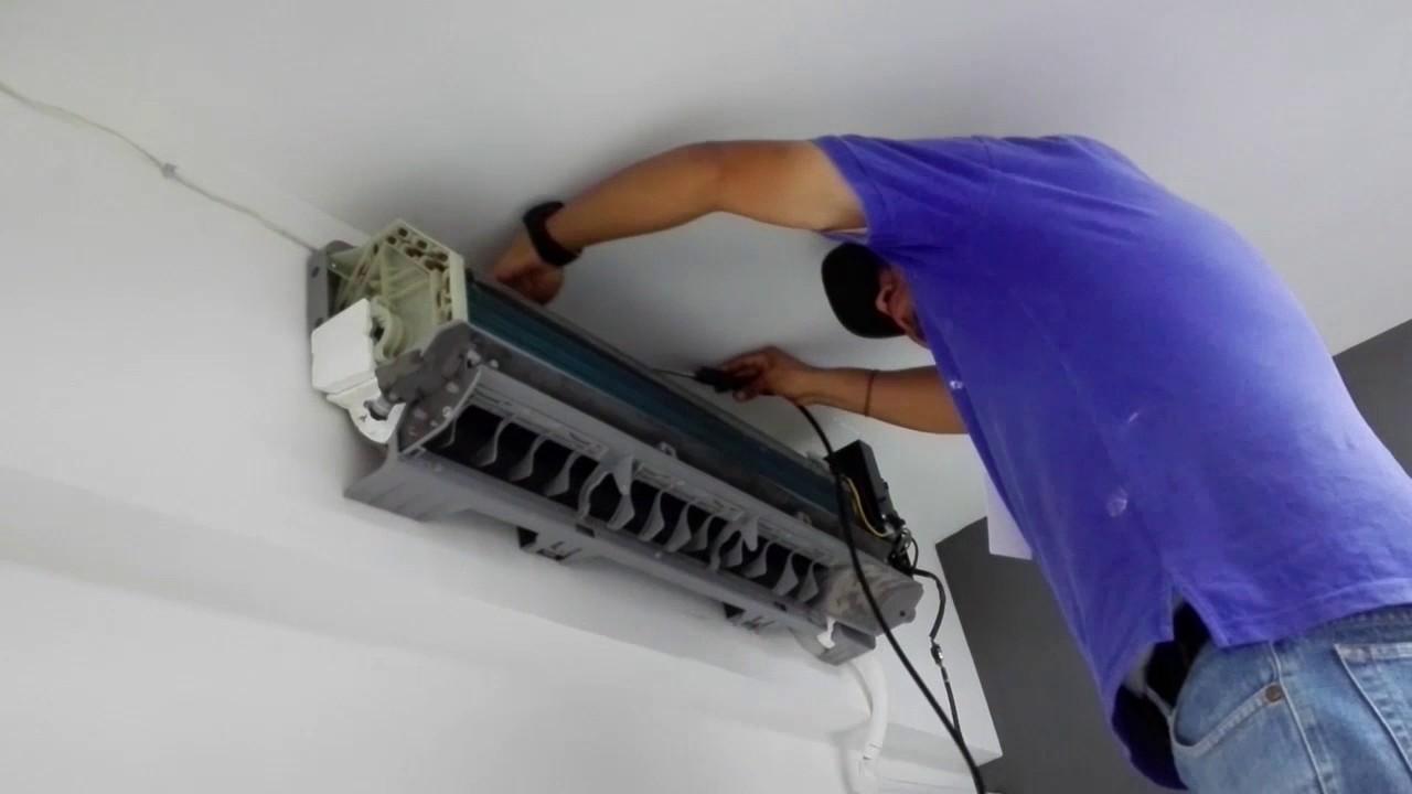 Limpieza de evaporador de un aire acondicionado tipo mini - Limpiador de errores gratis ...