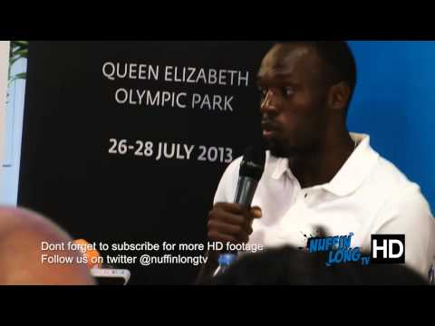 Usain Bolt talks about Drugs | Sainsburys Anniversary Games by Nuffin'Long TV