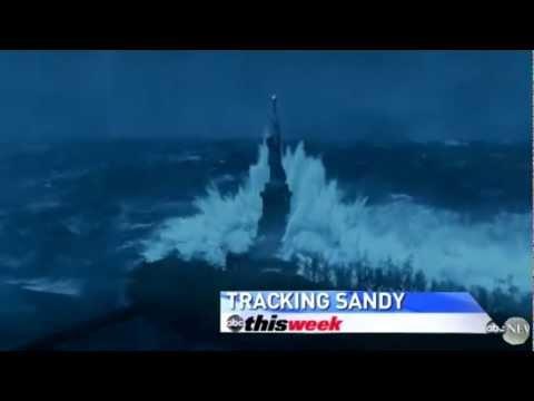 Hurricane Sandy Causes New York Tsunami - FOOTAGE