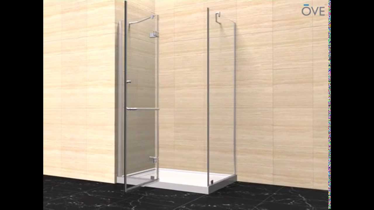 Ove Decors Shower Doors Ove Shelby With Side Panel Installation Youtube
