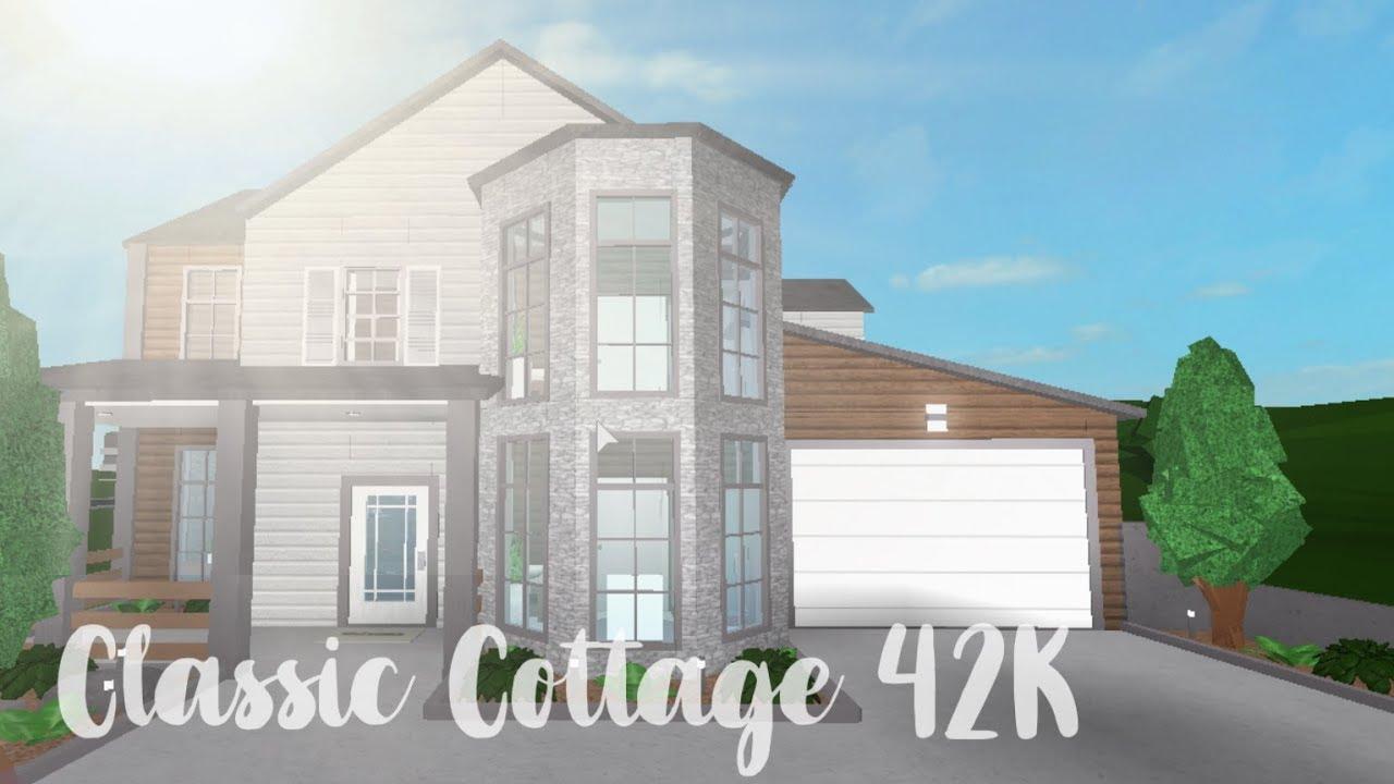 Bloxburg Classic Cottage 42k Youtube