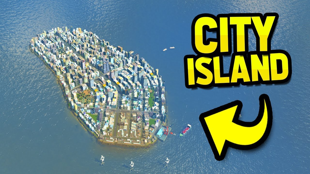 BUILDING A HUGE CITY ON A ISLAND in CITIES SKYLINES by SeniacTWO