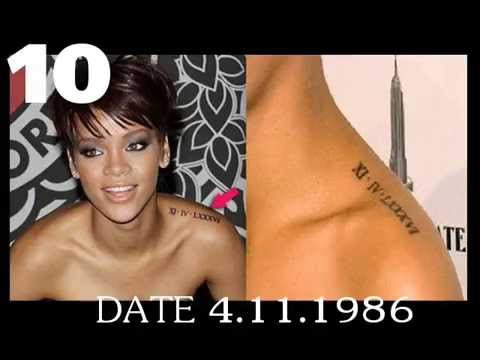 Rihanna Tattos 19 - 2013 Ancient Egyptian Queen Nefertiti