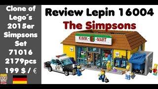 Review Simpsons Kwik-E-Mart - Lepin 16004