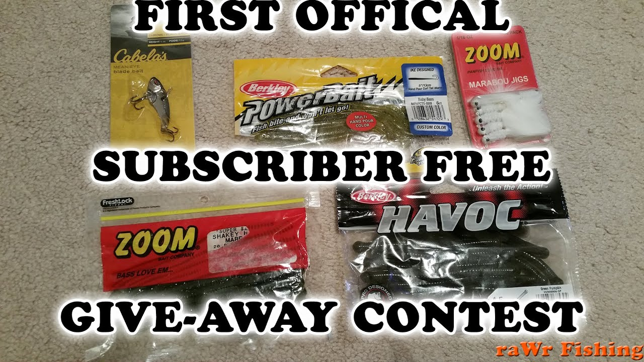 First free official giveaway contest fishing lures youtube for Free fishing tackle giveaway