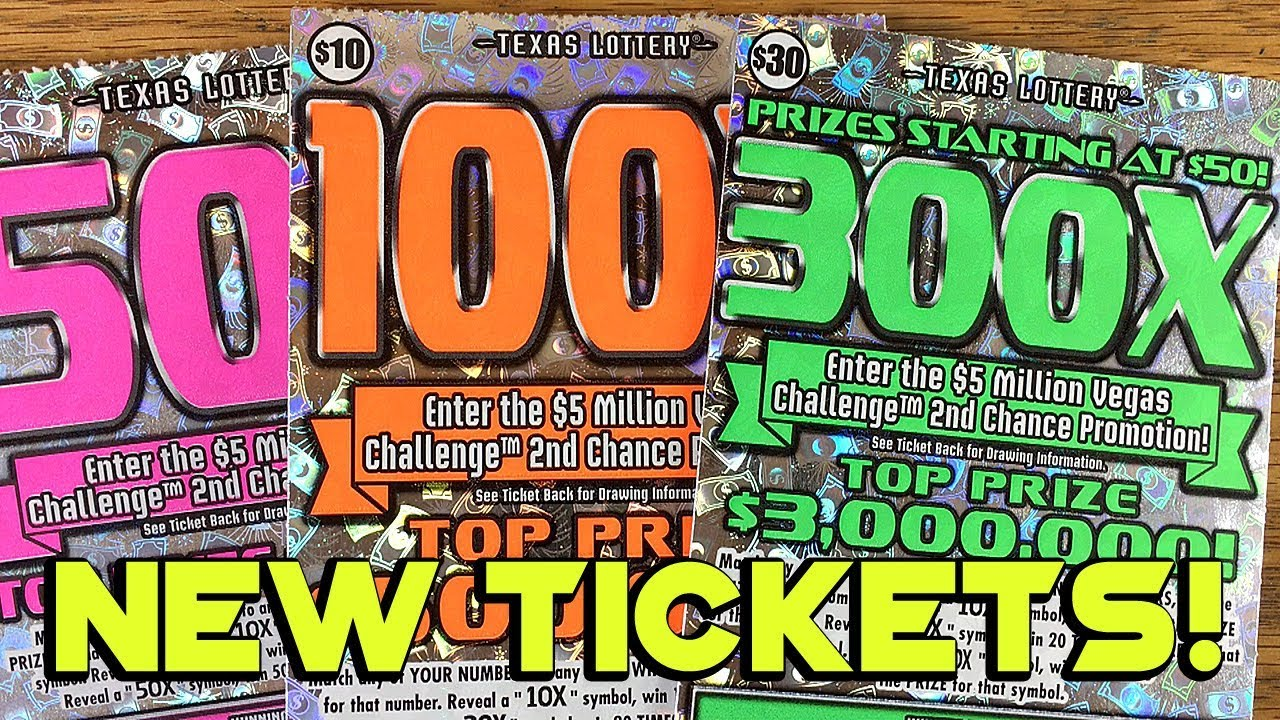 NEW TICKET WINS! $75 in Tickets! 300X, 100X and 50X! ✦ TEXAS LOTTERY  Scratch Off Tickets