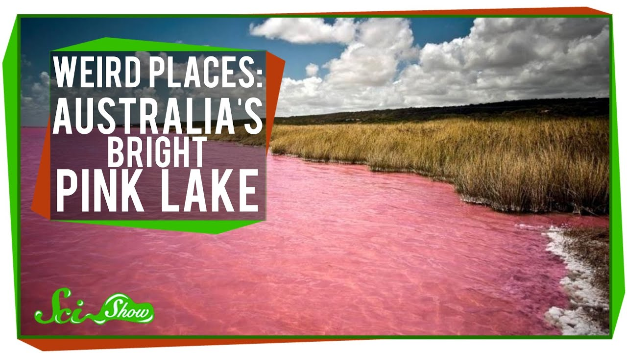 Weird Places Australias Bright Pink Lake YouTube - Map of the us weird locations