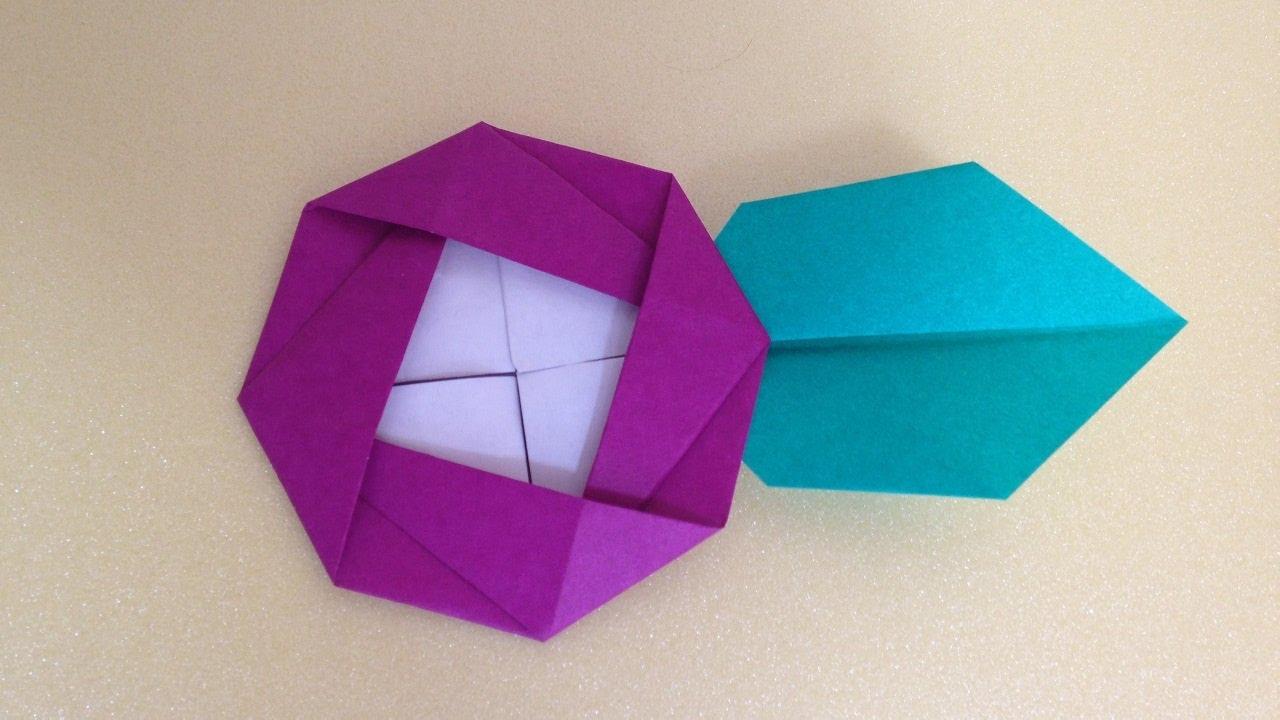 折り紙Origami 椿の花と葉 折り方 - YouTube