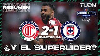 Resumen y goles   Toluca 2-1 Cruz Azul   Torneo Guard1anes 2021 BBVA MX 4tos IDA   TUDN