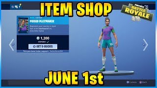 Soccer Skins Return! | FORTNITE ITEM SHOP TODAY! (June 1st, 2019)