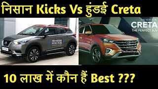 निसान कि Kicks vs हुंडई कि Creta full comparison in Hindi 2019 | Tech With Sid