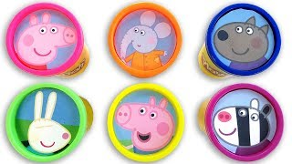 Learn Colors with Peppa Pig Play Doh Surprise Cans