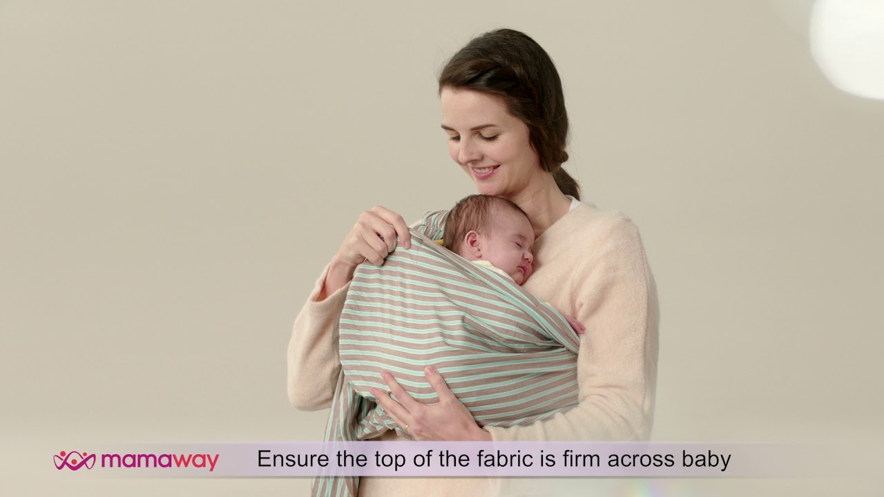 a1d8cae6899 How To Use  Mamaway Baby Ring Sling - NEWBORN (Koala Position) - YouTube