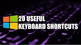20 Useful Keyboard Shortcuts You Need to Know Windows
