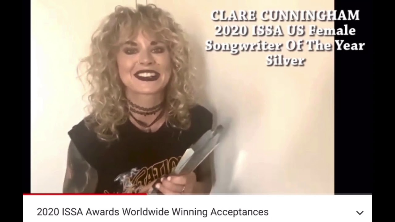 Clare Cunningham - ISSA ACCEPTANCE SPEECH for 'Songwriter of the year' 2020