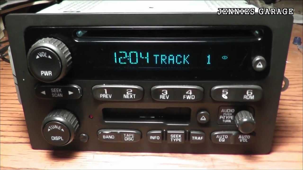 How To Unlock A 2002  2008 Chevrolet Theftlock Radio  With Catchy Tune Bonus!!  YouTube