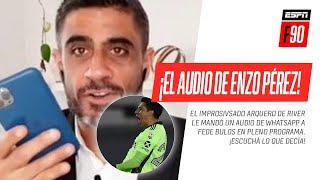 ¡Enzo #Pérez sorprendió a #Bulos enviándole UN AUDIO DE WHATSAPP EN PLENO PROGRAMA!