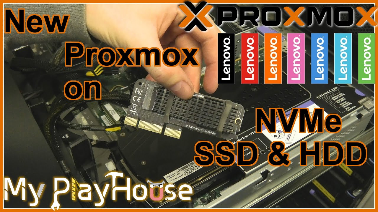 NEW Proxmox on x3650 M5 with NVMe, SSD & HDD - 1008