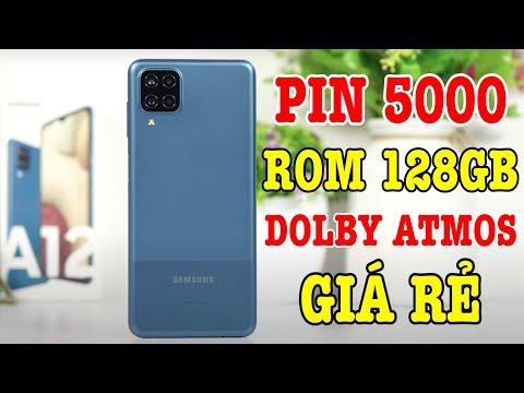 Mở hộp Galaxy A12 ROM 128GB, Pin 5000, Dolby Atmos GIÁ RẺ của Samsung