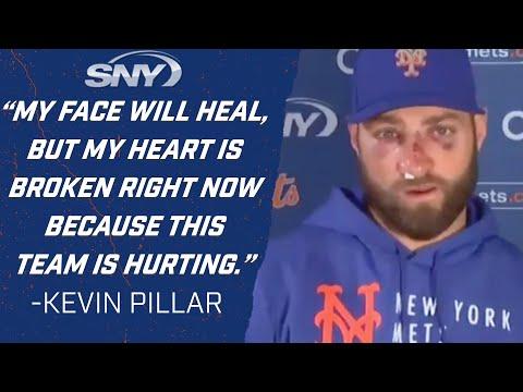 Kevin Pillar on how he's feeling after being hit in the face by a pitch Monday night   NY Mets   SNY