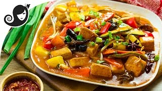 Easy One Pan Szechuan Vegetables and Tofu | Vegan/Vegetarian Recipe