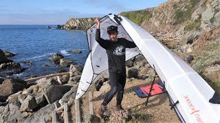 Bad Idea? Launching a FOLDING Oru Kayak off Jagged Rocks