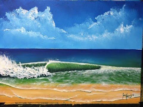 "How to paint a ocean wave (Tutorial)""Acrylic"""