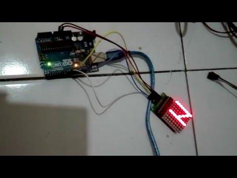 Mendrive LED Dot Matrix Dengan Arduino dan MAX7129 - embeddednesia com