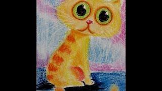 МК сухой пастелью  Котяшка #2