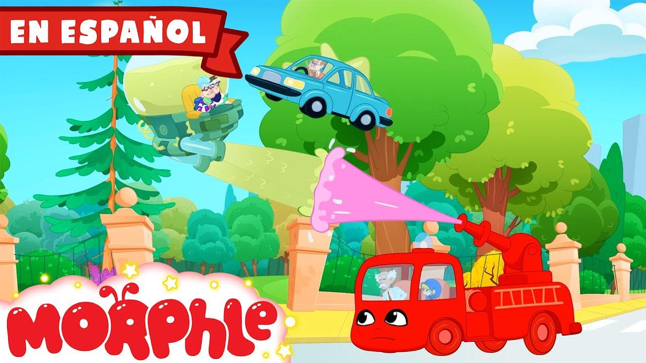 Morphle en Español - Mi Camión de Bomberos Rojo y los Bandidos Pegajosos | Caricaturas para Niños