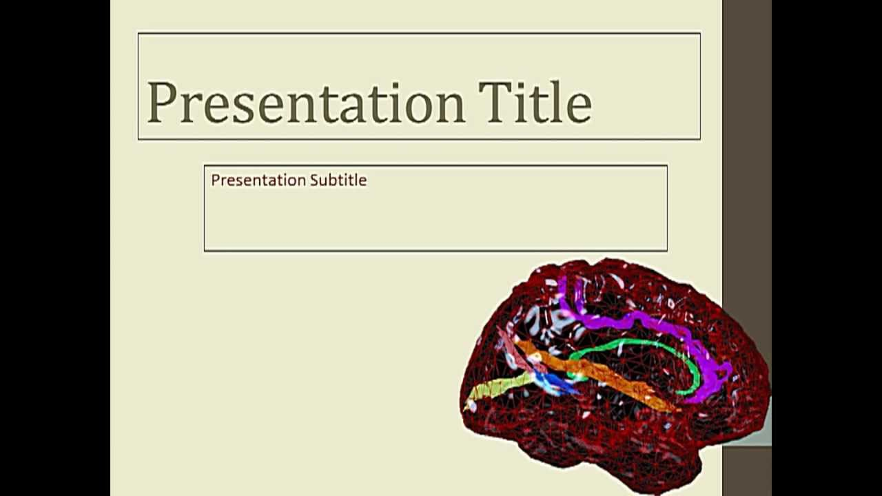 Free neurology powerpoint template youtube free neurology powerpoint template toneelgroepblik Images