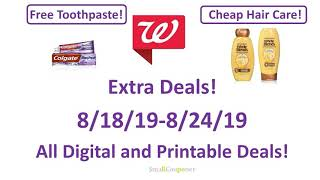 Walgreens Extra Deals 8/18/19-8/24/19! All Digital and Printable Deals!