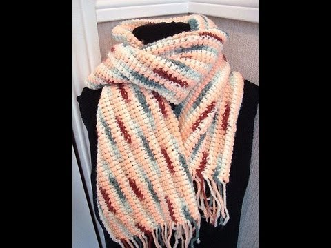 HOW TO CROCHET A SCARF, easy method - YouTube