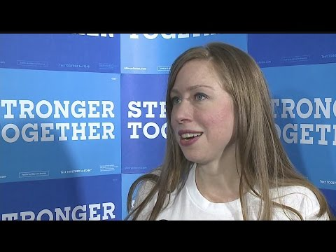 Chelsea Clinton speaks at Youngstown's Covelli Centre