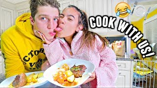 COOKING WITH MATT & ADELAINE!🥔🍽️ We should not be allowed in the kitchen