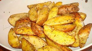 Картофель по-деревенски. Как вкусно приготовить картошку видео рецепт от Тани