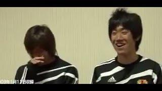 香川真司と乾貴士 こっちが笑っちゃうぐらいヘラヘラしてるおもしろインタビュー