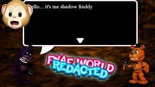 UNLOCKING SHADOW FREDDY!!   FNaF World Redacted