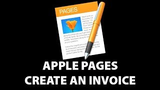Apple Pages Create Invoice  2017