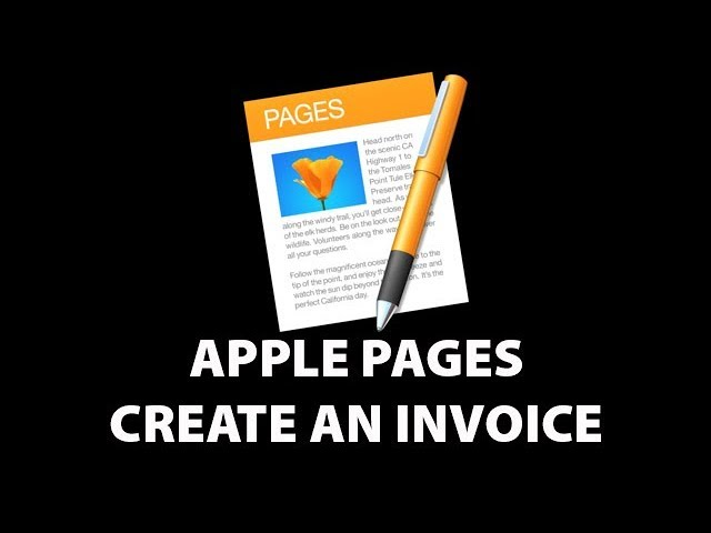 Apple Pages Create Invoice 2017 Youtube