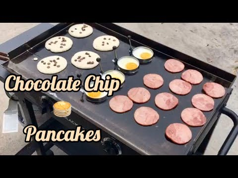 How To Make Chocolate Chip Pancakes Youtube
