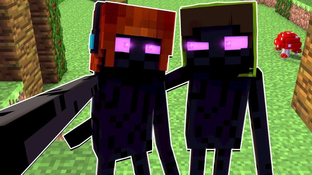 Vida de Mobs #9: COMO É A VIDA DE UM ENDERMAN ?! - Minecraft