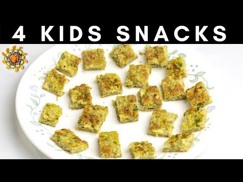 4 Easy Snack Recipes For 1Yr+ Kids, Toddlers And Family | Healthy Snacks For Kids