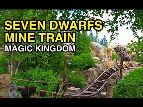 [4K] Seven Dwarfs Mine Train - Family Coaster : Magic Kingdom (Orlando, FL)