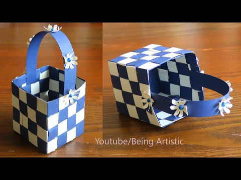 Simple Paper Basket Making -  DIY Basket- Easy and Beautiful Paper Craft