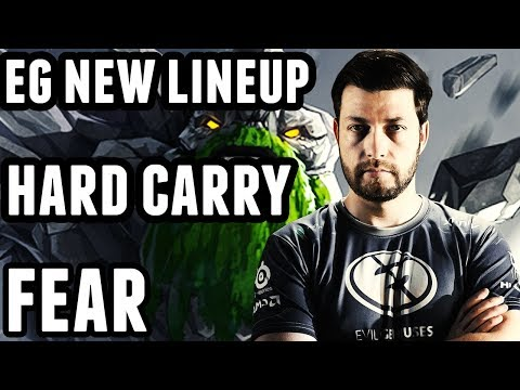 Tiny Pro Gameplay - Fear Hard Carry - EG New Lineup Dota 2 Ranked Match Full Game
