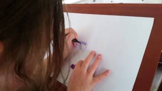 5 year old teaching how to draw simple flower
