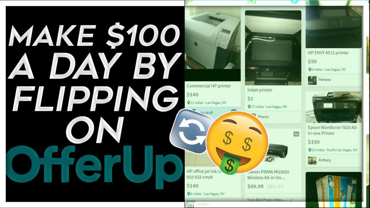 How To Make 100 A Day Flipping Printers And More On Offerup